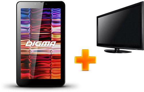 Digma HIT с функцией соединения с TV через Wi-Fi