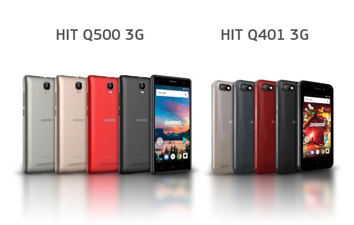 DIGMA HIT Q401 3G и Q500 3G