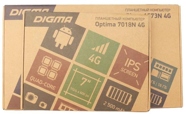Планшет DIGMA Optima 7018N 4G и Plane 1573N 4G