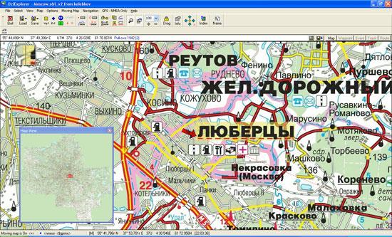 Работа DIGMA BM120 с программой OziExplorer 3.95 под Windows XP